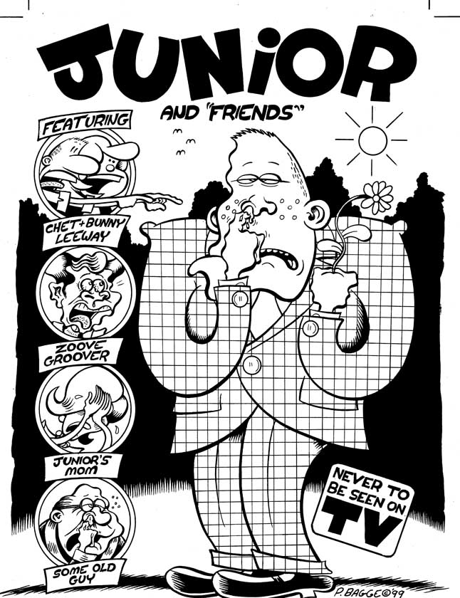 """Junior # 1 Cover"" is copyright ©2008 by Peter Bagge.  All rights reserved.  Reproduction prohibited."