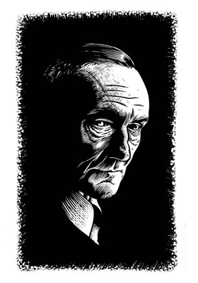 """William S Burroughs portrait"" is copyright ©2008 by Eric Reynolds.  All rights reserved.  Reproduction prohibited."