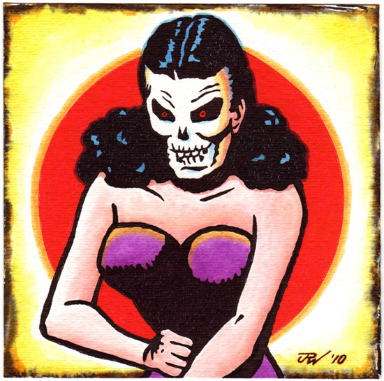 """Evil Skull Lady"" is copyright ©2008 by J.R. Williams.  All rights reserved.  Reproduction prohibited."