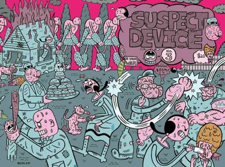 """Suspect Device #3 Cover Art (Popeye/Annie)"" is copyright ©2008 by Kevin Scalzo.  All rights reserved.  Reproduction prohibited."
