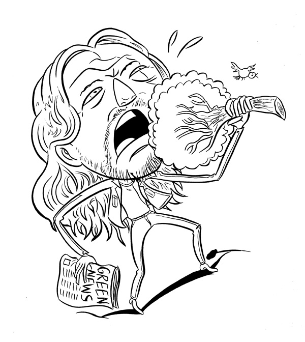 """EDDIE VEDDER EATS HIS VEGETABLES"" is copyright ©2008 by Jeremy Eaton.  All rights reserved.  Reproduction prohibited."