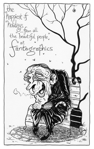 """FANTAGRAPHICS HOLIDAY CARD"" is copyright ©2008 by Jeremy Eaton.  All rights reserved.  Reproduction prohibited."
