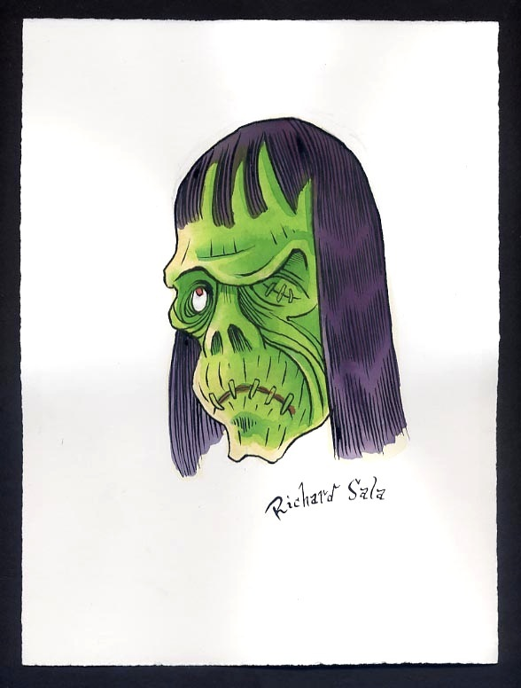 """Unmasked Series: Green Zombie"" is copyright ©2008 by Richard Sala.  All rights reserved.  Reproduction prohibited."