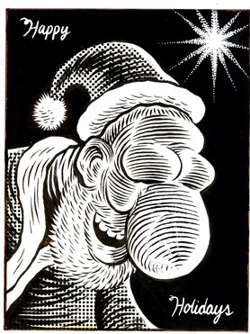 """Creepy Happy Santa"" is copyright ©2008 by Eric Reynolds.  All rights reserved.  Reproduction prohibited."