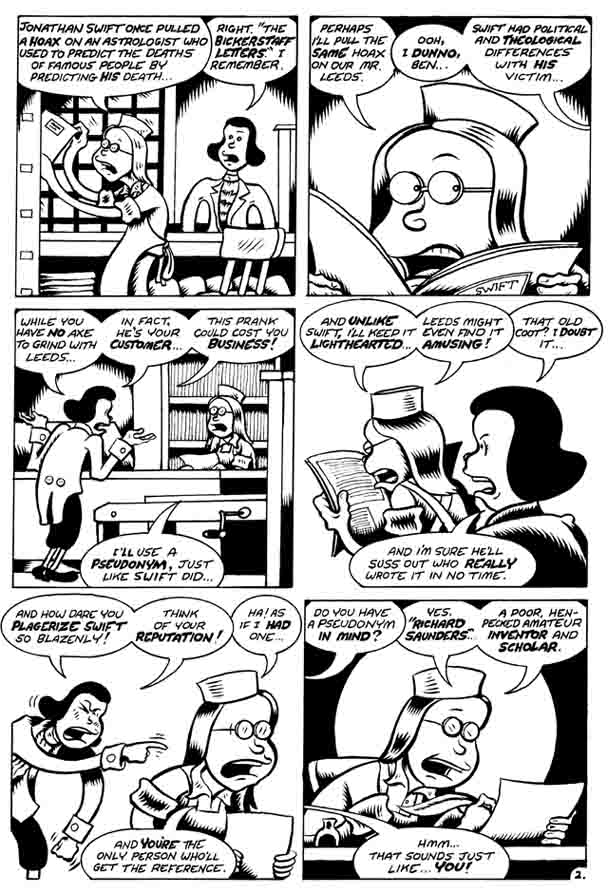 """Poor Rchard Predicts pg. 2"" is copyright ©2008 by Peter Bagge.  All rights reserved.  Reproduction prohibited."