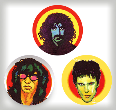 """Rock 'n' Roll Bad Boys buttons"" is copyright ©2008 by J.R. Williams.  All rights reserved.  Reproduction prohibited."