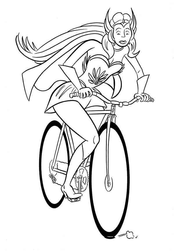 """CARTOON BIKER! SHE-RA!"" is copyright ©2008 by Jeremy Eaton.  All rights reserved.  Reproduction prohibited."