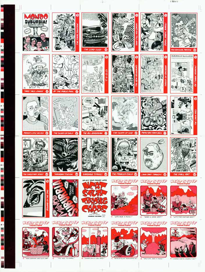 """MONDO SUBURBIA CARDS UNCUT SHEET"" is copyright ©2008 by Jim Blanchard.  All rights reserved.  Reproduction prohibited."