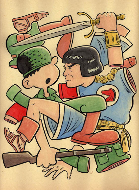 """*CARTOON JUMBLESBEETLE BAILEY & PRINCE VALIANT"" is copyright ©2008 by Jeremy Eaton.  All rights reserved.  Reproduction prohibited."