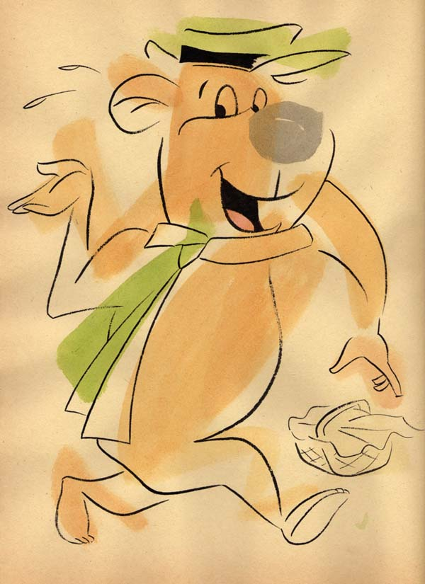 """NEO-EXPRESSIVE YOGI BEAR"" is copyright ©2008 by Jeremy Eaton.  All rights reserved.  Reproduction prohibited."