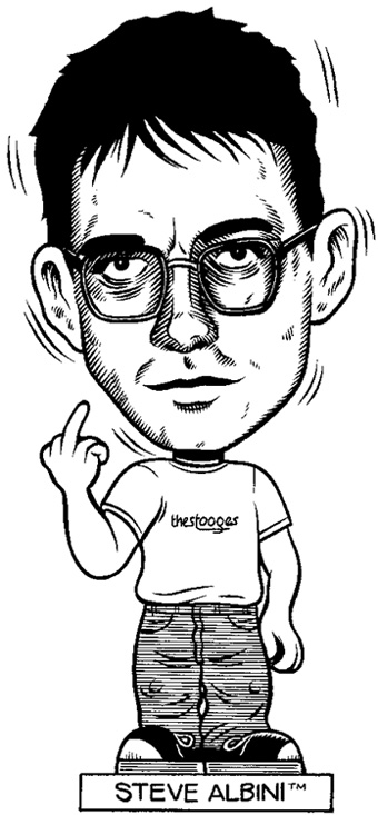 """Bobblehead: Steve Albini"" is copyright ©2008 by Eric Reynolds.  All rights reserved.  Reproduction prohibited."