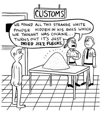 """VICE UK- Customs Gag"" is copyright ©2008 by Johnny Ryan.  All rights reserved.  Reproduction prohibited."