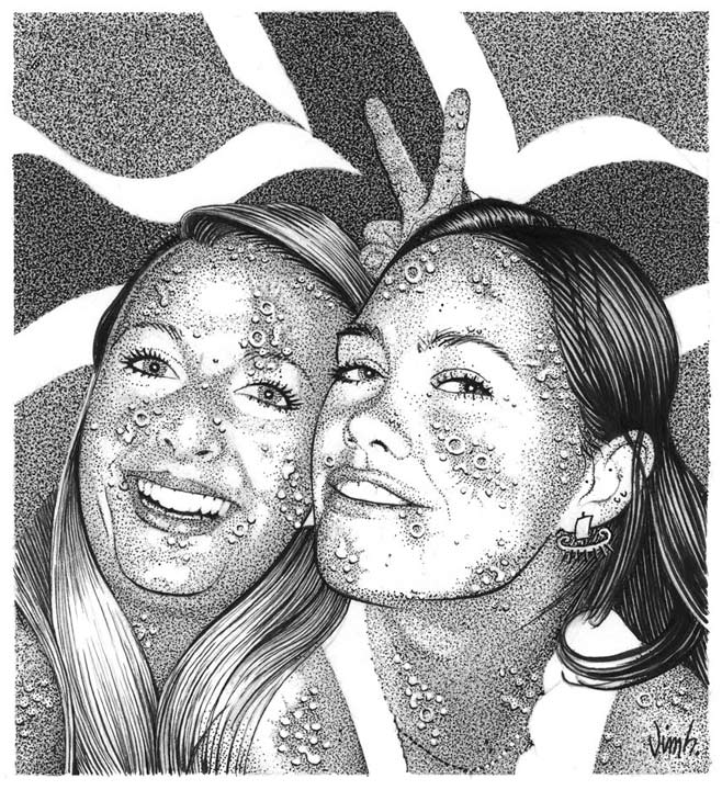 """DISEASED NORWEGIANS #2: HELGA & KIRSTEN"" is copyright ©2008 by Jim Blanchard.  All rights reserved.  Reproduction prohibited."