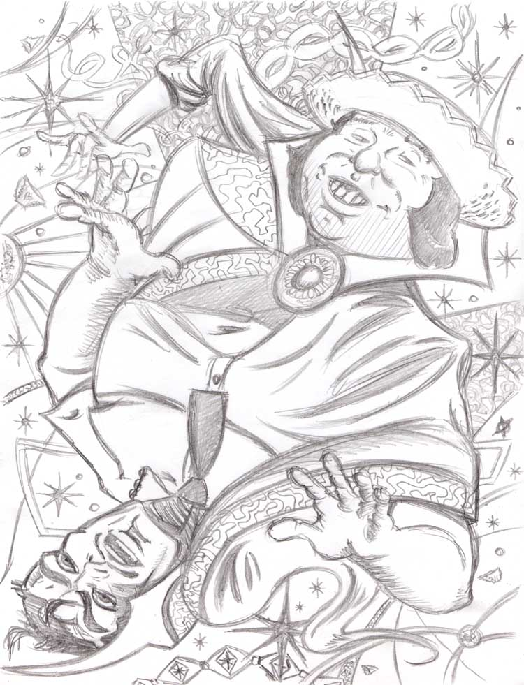 """CARTOON JUMBLE PENCIL - DR. STRANGE & DOOFUS"" is copyright ©2008 by Jeremy Eaton.  All rights reserved.  Reproduction prohibited."