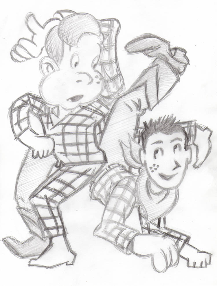 """CARTOON JUMBLE PENCIL - HOWDY DOODY & P.WEE HERMAN"" is copyright ©2008 by Jeremy Eaton.  All rights reserved.  Reproduction prohibited."