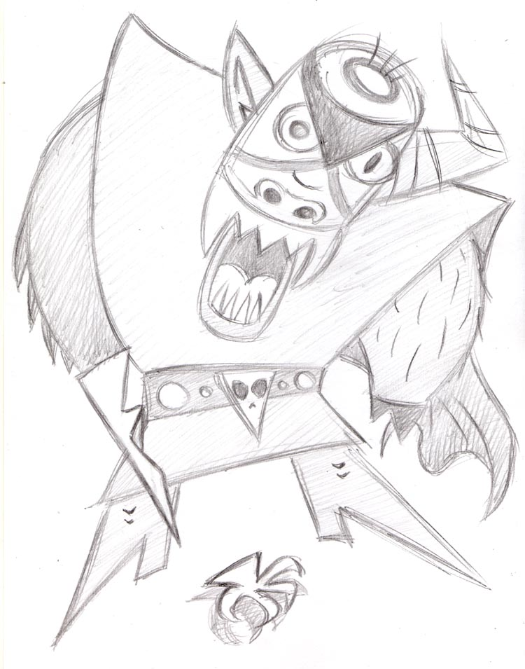 """CARTOON JUMBLE PENCIL - MOJO JOJO & EDUARDO"" is copyright ©2008 by Jeremy Eaton.  All rights reserved.  Reproduction prohibited."