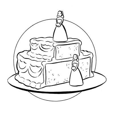 """Civil Union Cake"" is copyright ©2008 by Colleen Coover.  All rights reserved.  Reproduction prohibited."