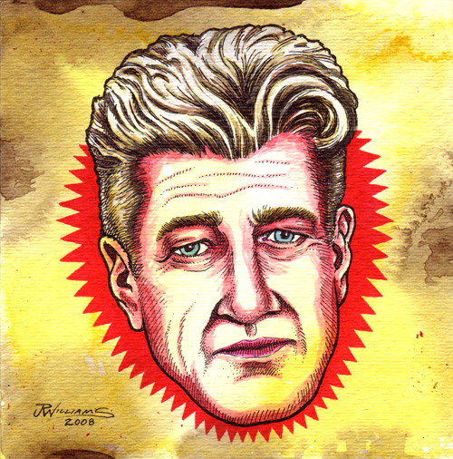 """David Lynch"" is copyright ©2008 by J.R. Williams.  All rights reserved.  Reproduction prohibited."