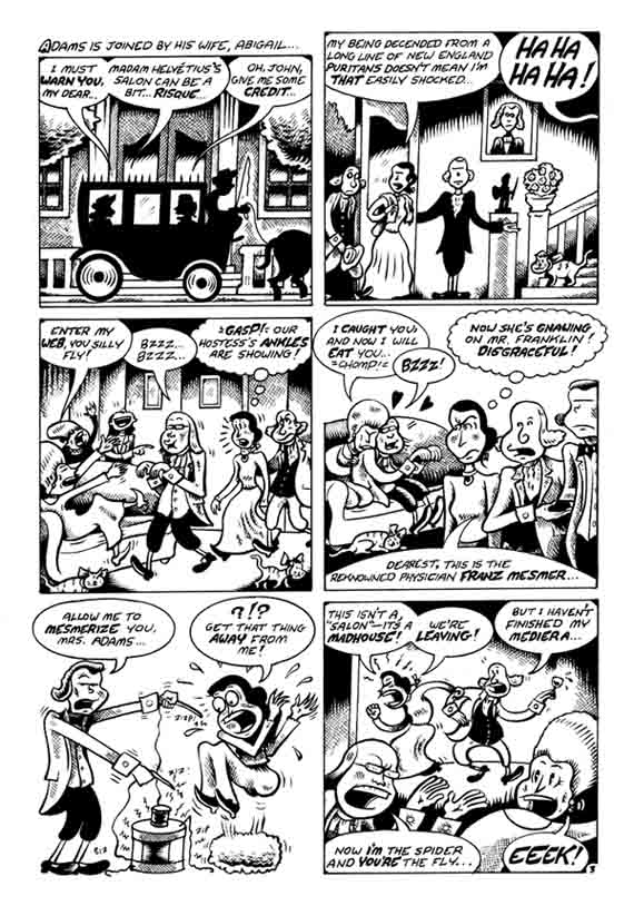 """J.Adams-B.Franklin pg 3"" is copyright ©2008 by Peter Bagge.  All rights reserved.  Reproduction prohibited."