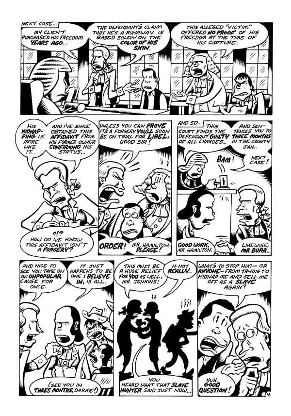 """A. Hamilton pg 4"" is copyright ©2008 by Peter Bagge.  All rights reserved.  Reproduction prohibited."