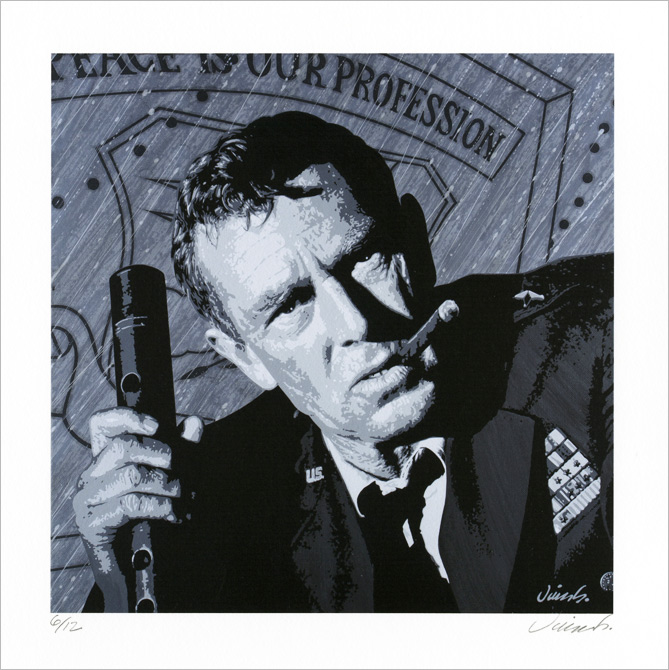 """STERLING HAYDEN GICLEE PRINT"" is copyright ©2008 by Jim Blanchard.  All rights reserved.  Reproduction prohibited."