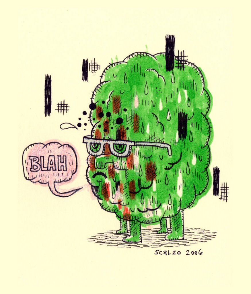 """BLAH-giclee print"" is copyright ©2008 by Kevin Scalzo.  All rights reserved.  Reproduction prohibited."