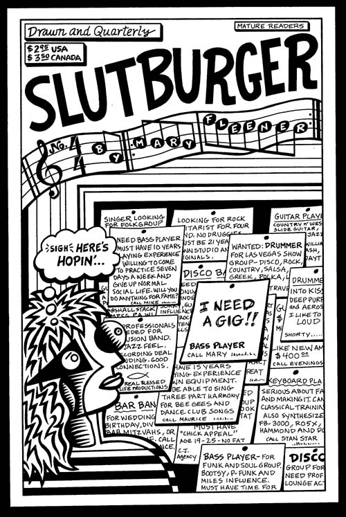 """Slutburger #4 cover"" is copyright ©2008 by Mary Fleener.  All rights reserved.  Reproduction prohibited."
