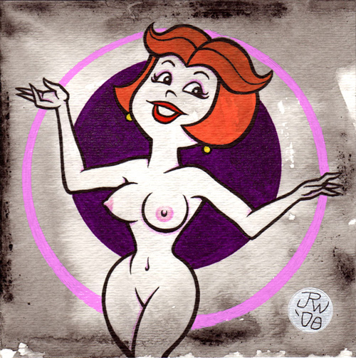 """Jane Jetson"" is copyright ©2008 by J.R. Williams.  All rights reserved.  Reproduction prohibited."