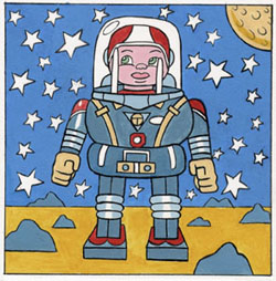 """Space-Boy"" is copyright ©2008 by Kevin Scalzo.  All rights reserved.  Reproduction prohibited."