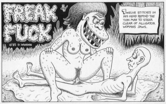 """Freak Fuck, with Alligator Woman"" is copyright ©2008 by Dennis Worden.  All rights reserved.  Reproduction prohibited."