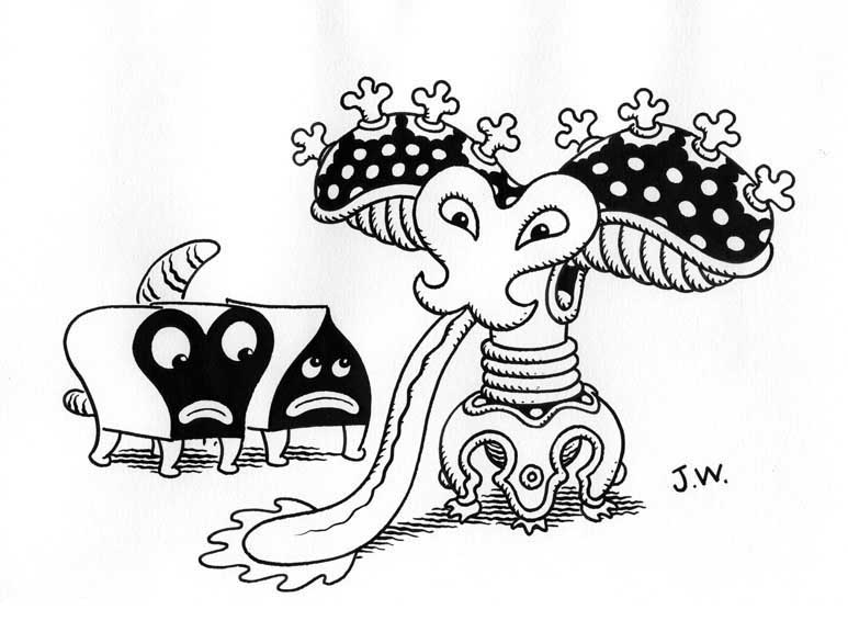 """FLOPPER"" is copyright ©2008 by Jim Woodring.  All rights reserved.  Reproduction prohibited."