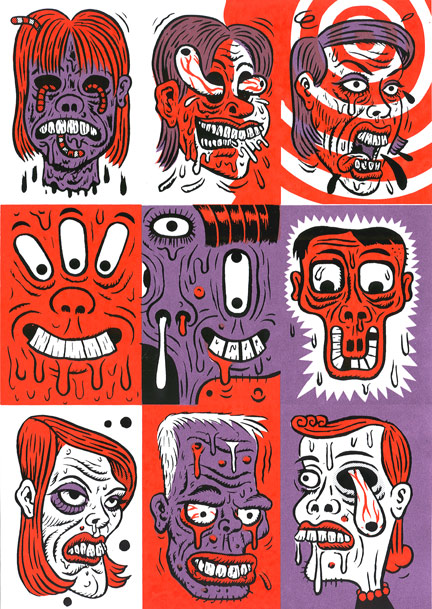 """*print* Ugly Mugs uncut #B"" is copyright ©2008 by  Mats!?.  All rights reserved.  Reproduction prohibited."