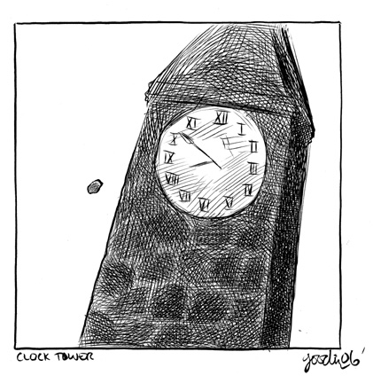 """McSWEENEY'S 21 Tall Man - Clock Tower"" is copyright ©2008 by Robert Goodin.  All rights reserved.  Reproduction prohibited."
