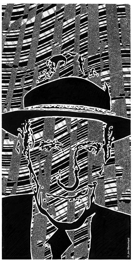 """WILLIAM S. BURROUGHS"" is copyright ©2008 by Jim Blanchard.  All rights reserved.  Reproduction prohibited."