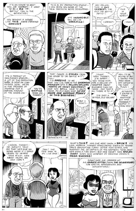 """Eightball issue 14, page 22 (Dan Pussey)"" is copyright ©2008 by Daniel Clowes.  All rights reserved.  Reproduction prohibited."