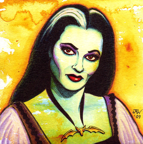 """Lily Munster"" is copyright ©2008 by J.R. Williams.  All rights reserved.  Reproduction prohibited."