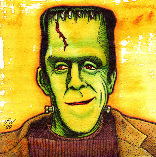 """Herman Munster"" is copyright ©2008 by J.R. Williams.  All rights reserved.  Reproduction prohibited."