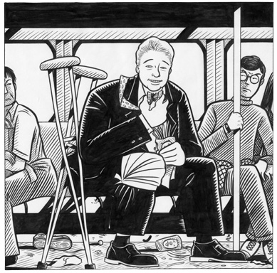 """BILL CLINTON ON BUS"" is copyright ©2008 by Jeremy Eaton.  All rights reserved.  Reproduction prohibited."