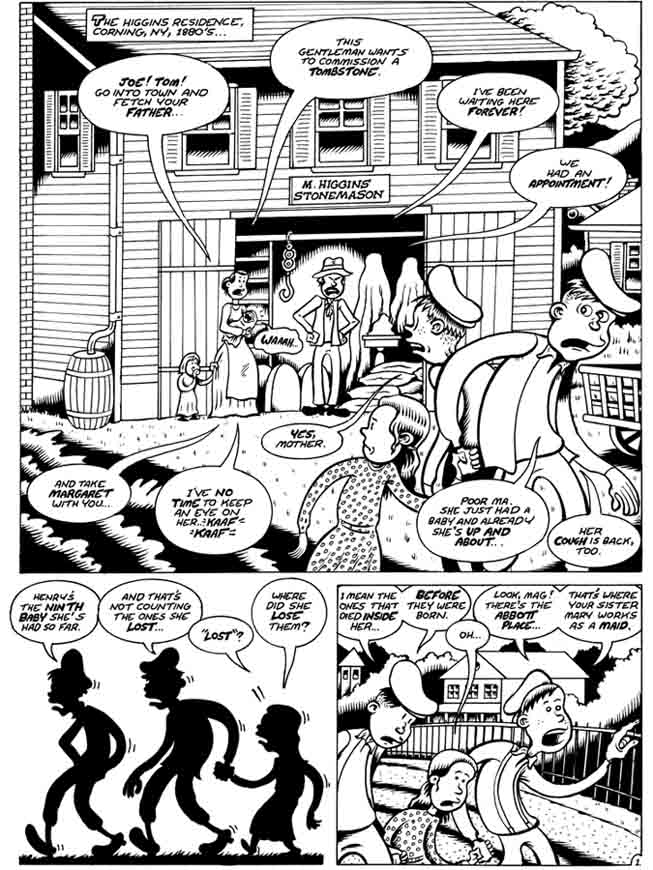 """Woman Rebel Page 1"" is copyright ©2008 by Peter Bagge.  All rights reserved.  Reproduction prohibited."
