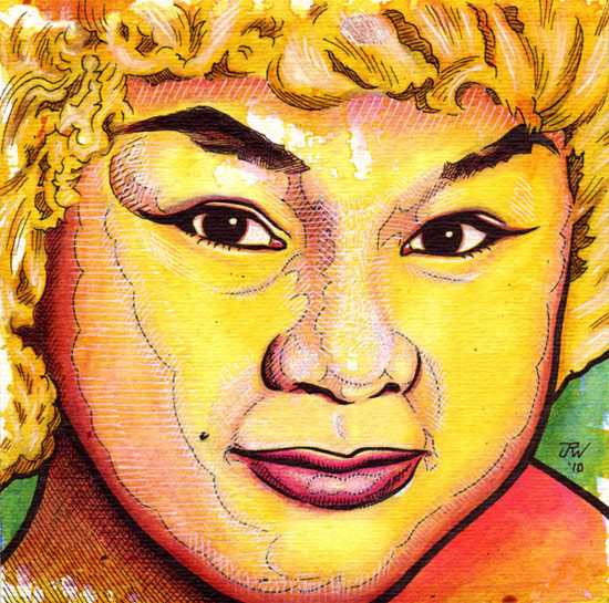 """Etta James"" is copyright ©2008 by J.R. Williams.  All rights reserved.  Reproduction prohibited."