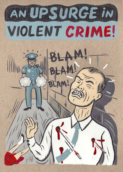 """Violent Crime Surges"" is copyright ©2008 by  Mats!?.  All rights reserved.  Reproduction prohibited."