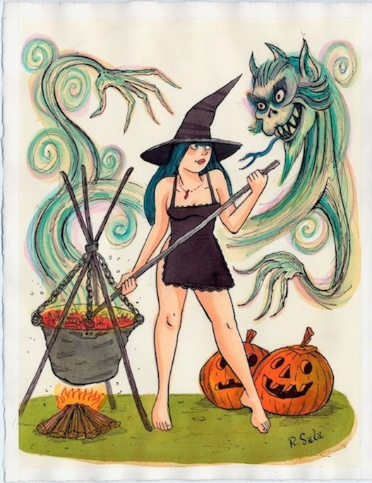 """Pretty Spooky Series - Cauldron"" is copyright ©2008 by Richard Sala.  All rights reserved.  Reproduction prohibited."