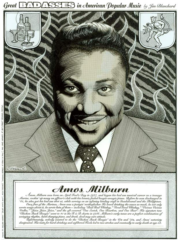 """AMOS MILBURN"" is copyright ©2008 by Jim Blanchard.  All rights reserved.  Reproduction prohibited."