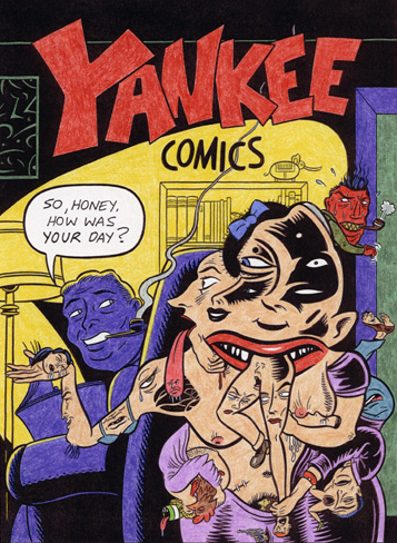 """YANKEE COMICS (COLOR ROUGH)"" is copyright ©2008 by Jeremy Eaton.  All rights reserved.  Reproduction prohibited."
