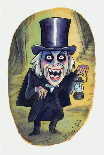 """Movie Monsters: London After Midnight"" is copyright ©2008 by Richard Sala.  All rights reserved.  Reproduction prohibited."