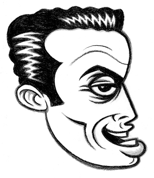 """LENNY BRUCE"" is copyright ©2008 by J.R. Williams.  All rights reserved.  Reproduction prohibited."