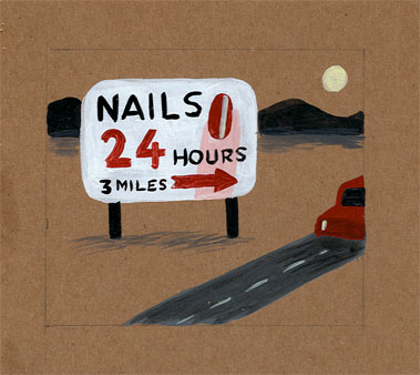 """Nails 24 hrs."" is copyright ©2008 by  Mats!?.  All rights reserved.  Reproduction prohibited."