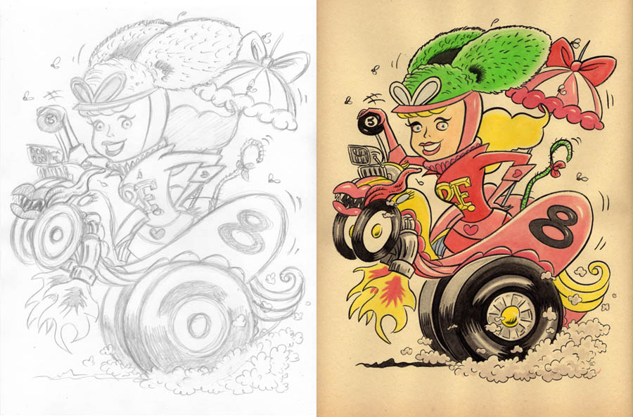 """CARTOON JUMBLE! RAT FINK & PENELOPE PITSTOP!"" is copyright ©2008 by Jeremy Eaton.  All rights reserved.  Reproduction prohibited."