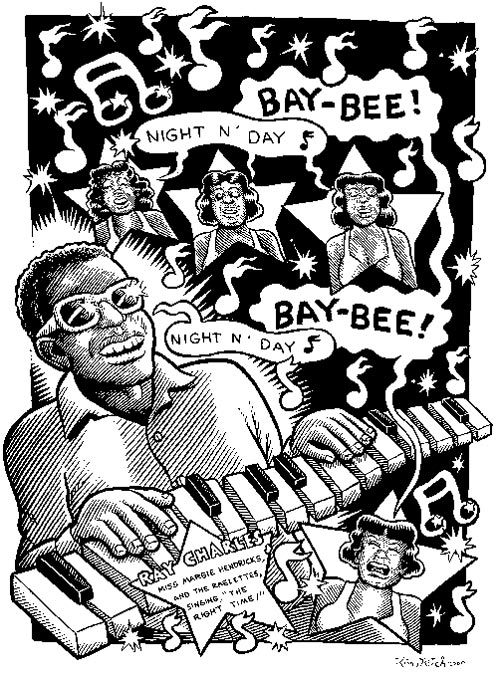 """Ray Charles"" is copyright ©2008 by Kim Deitch.  All rights reserved.  Reproduction prohibited."