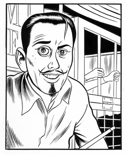 """Fast Company:  Portrait of Jim Rose"" is copyright ©2008 by Daniel Clowes.  All rights reserved.  Reproduction prohibited."
